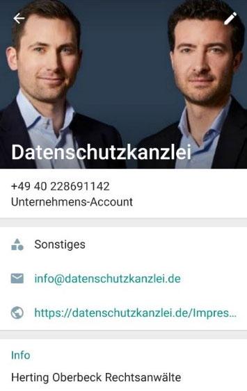 Beispielbild Datenschutzkanzlei Facebook Impressum