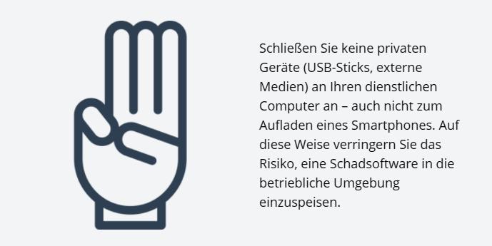 Hand mit drei erhobenen Fingern
